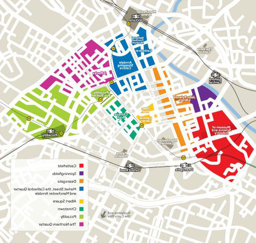Map of manchester city centre